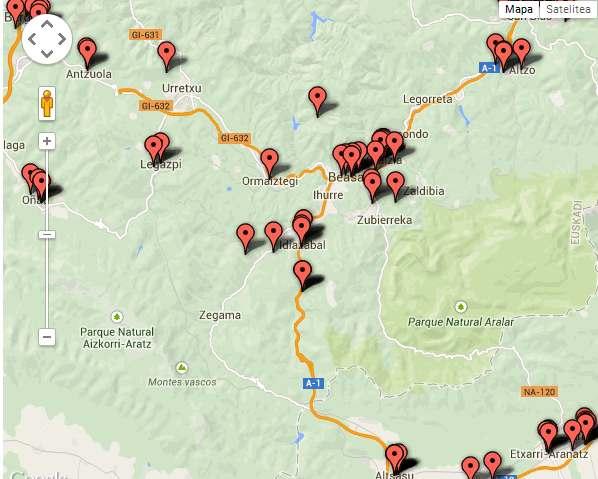 Euskarazko mapa interaktiboa