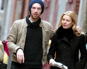 Chris Martin eta Gwyneth Paltrow