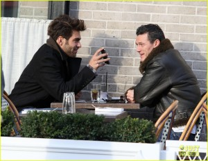 Luke Evans joins Jon Kortajarena for a lunch date **USA ONLY**